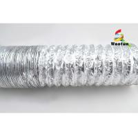 Air Conditioning HVAC Fire Resistant Flexible Ducting 20'' Aluminum Foil Manufactures