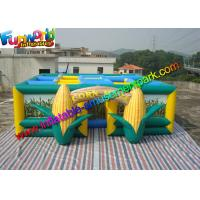 China Green  Inflatable Sports Games  ,Yellow 0.55mm PVC Tarpaulin Inflatable Corn Maze on sale