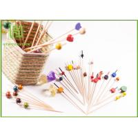 China Food Grade Baby Shower Toothpicks Decorative Skewers For Food Odorless on sale