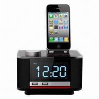 Music Speaker Player for iPhone/iPod/iTouch/iPad, with Snooze Clock, 2 USB Jacks for Charging/Dock Manufactures