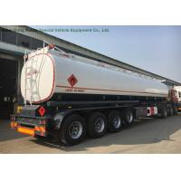 58m3 Stainless Steel Fuel Tanker Semi Trailer  4 Axles For Diesel ,Oil , Gasoline, Kerosene  Transport   50Ton Manufactures