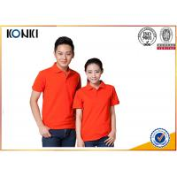 Cotton / Polyester Golf Polo Shirt Knitted Mens Custom Printed Polo Shirts Manufactures
