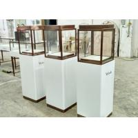 Luxury Custom Glass Display Cases / Museum Display Cabinets Hidden Strip Lights Manufactures