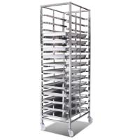 Commercial Stainless Steel Baking Tray Trolley For Food Factory Durable Manufactures