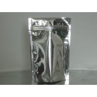 China Custom Stand Up Metalized Foil Stand Up Pouches With Press / Slider Zipper on sale