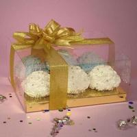 Cupcake Box, Made of PVC Plastic, Used for Food Packing Manufactures