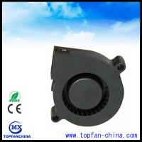 51mm Plastic DC Centrifugal Fan  5v 12v 24v Black For Car with Dual Ball Bearing Manufactures