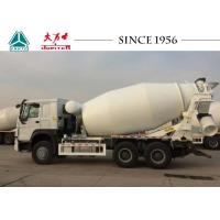 Modern Structure HOWO Concrete Mixer Truck 10 CBM 400 L Fuel Tank With Motor Manufactures