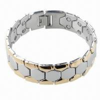 Bracelet with Magnet, Can be Made of Stainless Steel or Titanium  Manufactures