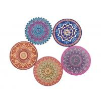 Amazon Hot Selling Style 4'' Ceramic Absorbent Round Coaster with Cork Back or Customized Size Manufactures