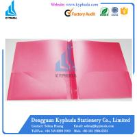 Buy cheap Red pp 3 prongs plastic a4 folder from wholesalers