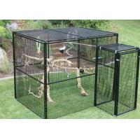 Durable Outdoor Aviary Cage , Metal Bird Cage Black Or Dark Green Color Manufactures
