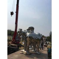Large Abstract Animal Sculpture , Stainless Steel Garden Statues For Plaza Decoration Manufactures