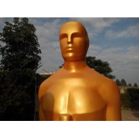 Buy cheap Event party decoration  Oscar statue in fiberglass  Life size oscar statue for sale from wholesalers