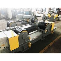 Grey 100T Pipe Welding Rollers Bolt Adjustment Conventional Welding Rotator With PU Wheels Manufactures