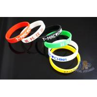 Children'S Custom Engraved Silicone Bracelets , Debossed Silicone Wristbands Manufactures