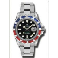 Rolex GMT Master II Black Automatic 18kt White Gold Oyster Mens Watch 116759BKSARU Manufactures