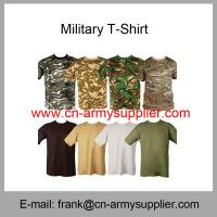 Wholesale Cheap China Army Camouflage 180GSM Military T-Shirt Manufactures