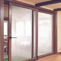 Aluminum Clad Wood Lifting and Sliding Door with Hollow Glass and High Level Air Tightness