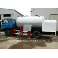 Road Bobtail LPG Gas Tanker With Mobile Dispenser , Bobtail Propane Delivery Truck Manufactures