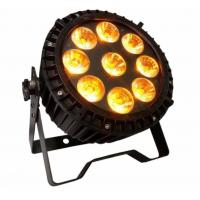 Outdoor Waterproof 9pcs*18w 6in1 RGBWA UV Led  High Quality Wash Slim Par Light Manufactures