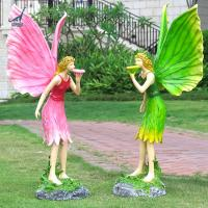 Life size fiberglass fairy garden statue model Manufactures