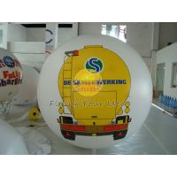 White PVC Large Printed Helium Balloons with UV protected printing for Opening event Manufactures
