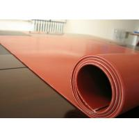 Dark Red Heat Resistant Silicone Rubber Sheet Rolls Reinforced To Insert 1PLY Fabric Manufactures