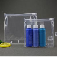 Leak Prevention PVC Cosmetic Bag , Clear Cosmetic Bags For Travel / Beach Manufactures