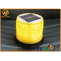 Solar Powered LED Amber Flashing Lights with High Intensity Sensor Manual Control Manufactures