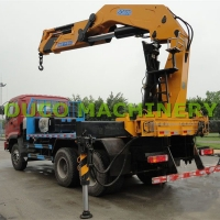 Buy cheap 30t Knuckle And Telescopic Boom Lorry Mounted Crane from wholesalers