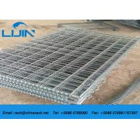 Stackable Detachable Wire Mesh Storage Cages , 50 * 50 Grinding Metal Storage Cage Manufactures