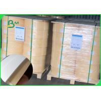 Size 14mm 60gsm white / brown waterproof karft paper for straw wood pulp roll Manufactures