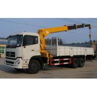 China 12Ton 6x4 Dongfeng Used Crane Truck 12000X2500X3850mm With Stretchable Arm on sale