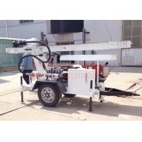 Trailer Mounted Hydraulic Water Well Drilling Rig 2 Wheel For DTH Air / Mud Pump Drilling Manufactures