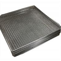 Woven wire grill mesh basket for holding glass plate stainless steel 304 Manufactures