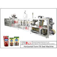 PLC Control Stand Up Pouch Filling And Sealing Machine For ketchup / Sauce 120BPM Manufactures