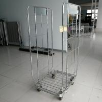 China Metal Frame Luggage Trolley Silver For Delivery Luggage Or Goods on sale