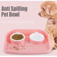 China Non Slip Plastic Feeding Dishes No Spill Pet Dog Cat Double Food Water Bowl For Cat Dog, Premium Colorful Dog Water Food on sale