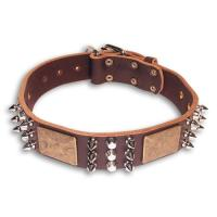 Quality Genuine Leather Small Dog Collars 2C GCDC-015 for sale