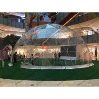 Luxury Waterproof Transparent Geodesic Dome Tents For Outdoor event / Show / Ceremony / Exhibitions Manufactures
