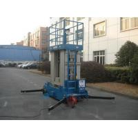 Four Mast Blue Hydraulic Lift Ladder Electric Motor With 12 m Platform Height