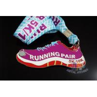 China Shoe Shape Custom 5k Medals , Custom Olympic Medals Antique Color Plating on sale