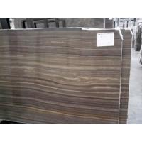 China Hottest Dark Colour Wood Marble, Popular Polished Obama Wooden Marble New Product On selling on sale
