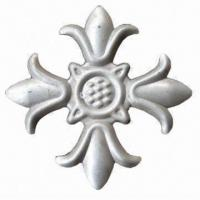 Elegant Stamped Flower, Cost-effective Wrought Iron Elements for Iron Works Manufactures