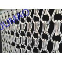 China Silver Color Aluminum Metal Chain Link Curtains Durable For Ceiling / Wall on sale