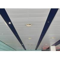 Indoor Decoration Aluminum Suspended Strip Ceiling Panel Beveled Edge Eco-friendly Manufactures