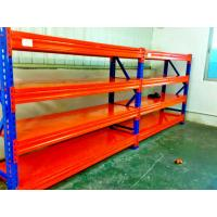 China Blue / Orange Cold Rolled Heavy Duty Pallet Racking With Long Span on sale