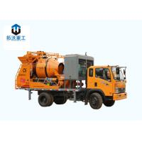 Long Distance Delivery Concrete Mixer Pump Truck Truck Mounted Cement Mixer Manufactures