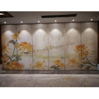 China China style elements rail systems mobile sound-absorbing partition walls on sale